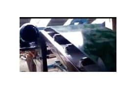 不锈钢z型装车皮带机,顶端无动力滚筒 (388播放)