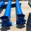 可来厂参观定制3米长倾斜式绞龙提料机